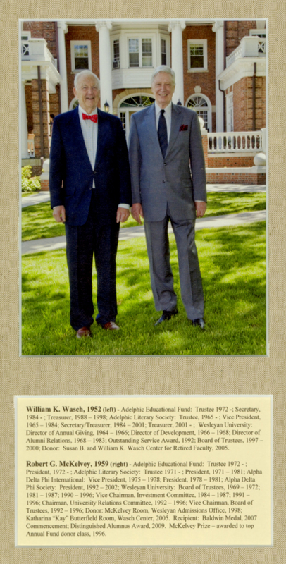 Photograph of Robert G. McKelvey '59 and William K. Wasch '52.