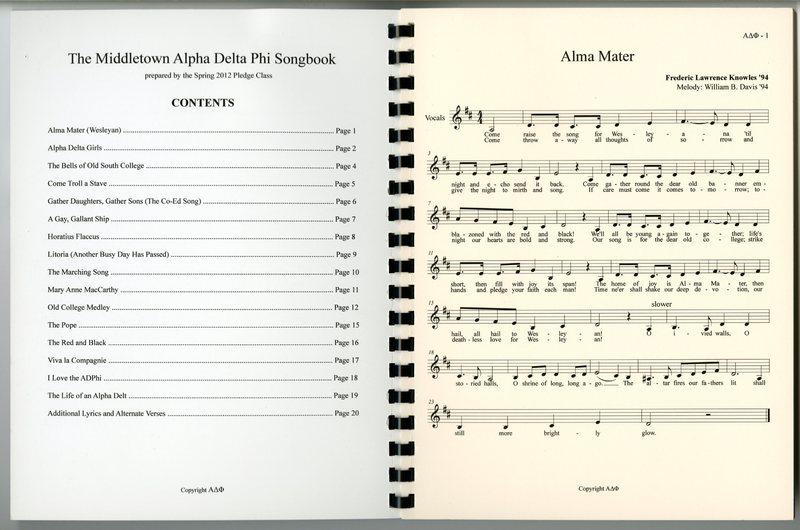 Alpha Delta Phi Songbook.