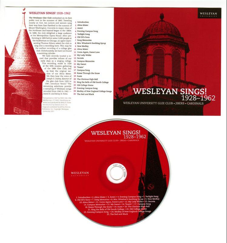 Wesleyan Sings! 1928-1962.