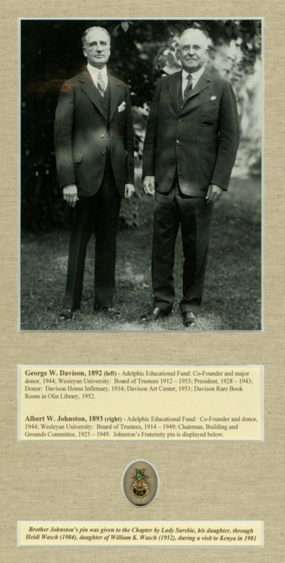 Photograph of George W. Davison '1892 and Albert W. Johnston '1893.
