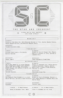 Star & Crescent Eating Club menu.